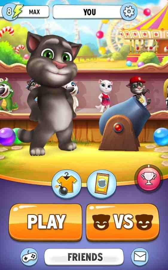 Hình ảnh game Talking Tom Bubble Shooter in Talking Tom Bubble Shooter