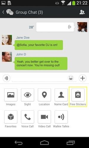 Hình ảnh tai WeChat in WeChat