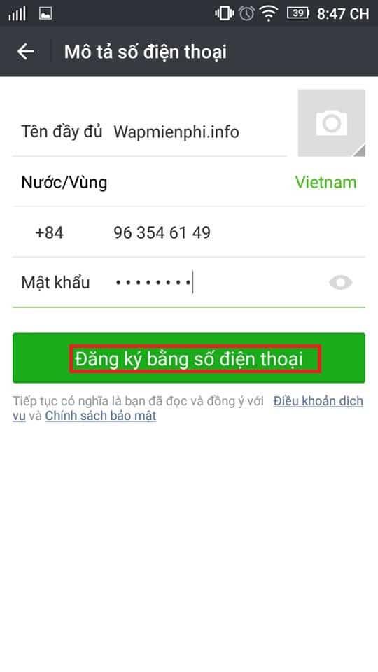 Hình ảnh huong dan dang ky nick cf mobile 1 in Hướng dẫn đăng ký và đăng nhập CF Mobile