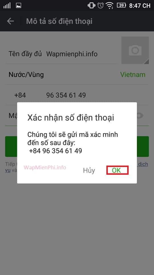 Hình ảnh huong dan dang ky nick cf mobile 2 in Hướng dẫn đăng ký và đăng nhập CF Mobile