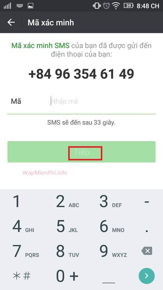 Hình ảnh huong dan dang ky nick cf mobile 3 in Hướng dẫn đăng ký và đăng nhập CF Mobile