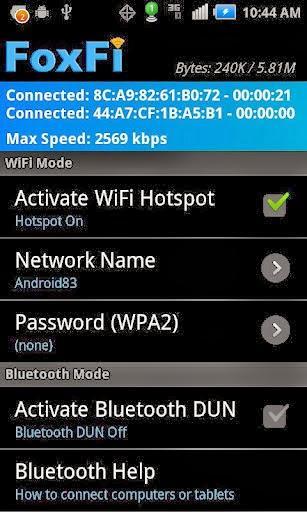 Hình ảnh ung dung FoxFi in Tải FoxFi - Phát Wifi cho điện thoại dễ dàng