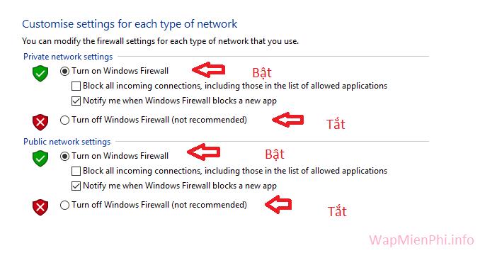 Hình ảnh bat tat tuong lua tren may tinh in Cách bật, tắt tường lửa Windows Firewall trên Windows