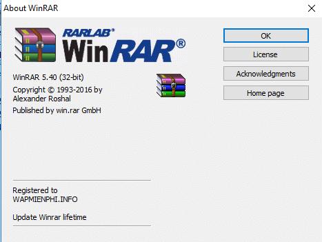 Hình ảnh Phan mem WinRAR in WinRAR