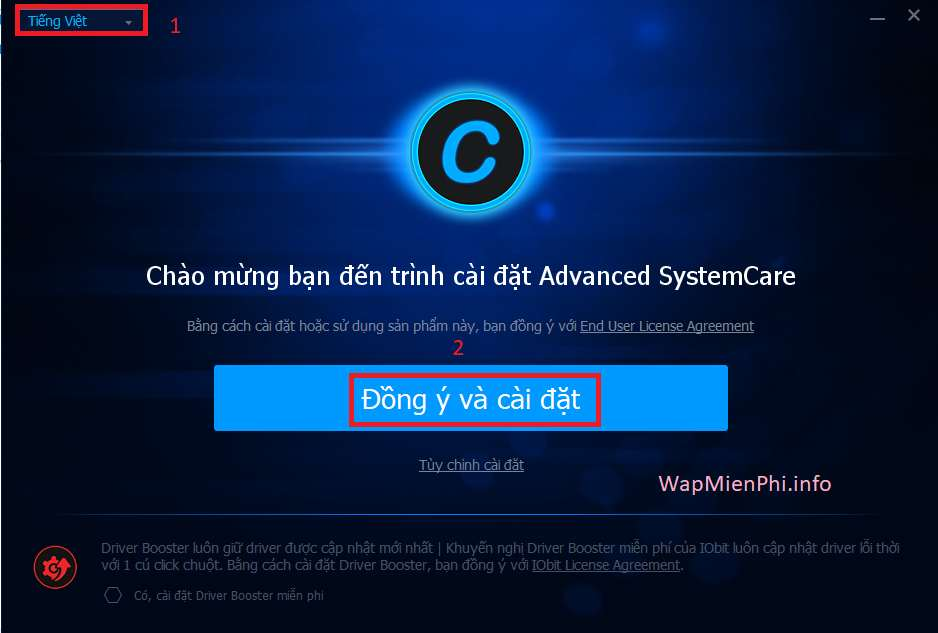 Hình ảnh cai dat Advanced System Care in Advanced SystemCare Pro 10