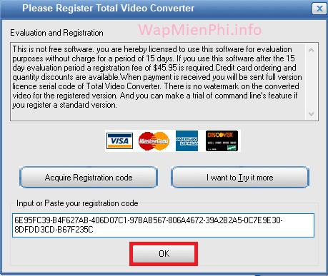 Hình ảnh cach kich hoat total video converter in Total Video Converter