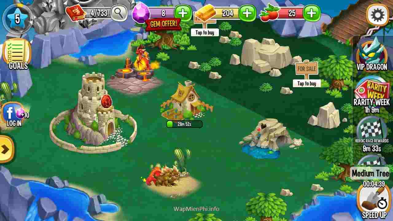 Hình ảnh choi game Nuoi Rong in Nuôi Rồng