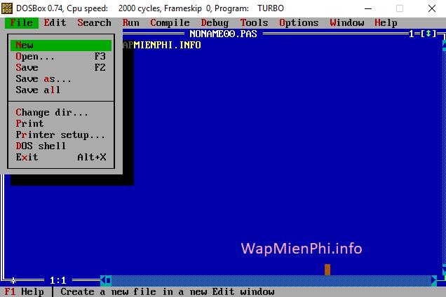 Hình ảnh tai Turbo Pascal in Turbo Pascal