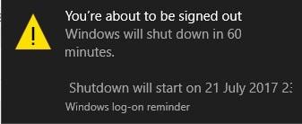 Hình ảnh thong bao hen gio tat may tinh in Cách hẹn giờ tắt máy tính Windows cực nhanh và đơn giản