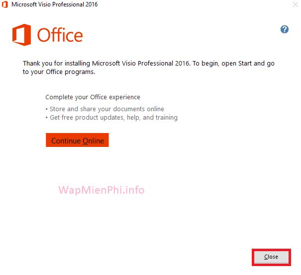 Hình ảnh huong dan cai Office Visio in Office Visio 2016