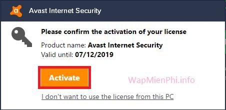 Hình ảnh kich hoat key avast internet security in Cách nhập key Avast Internet Security 2018 kích hoạt bản quyền miễn phí